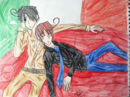 Brotherly Bonding (Italy Style) by Amyxkuzunoha1997