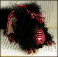 Red Dragon Sculpture Wings by NeverlandJewelry
