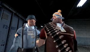 Heavy and Medic:BFFs. by kenny241100