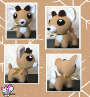 Mini Reindeer Plushie :For Sale: by Ami-Plushies