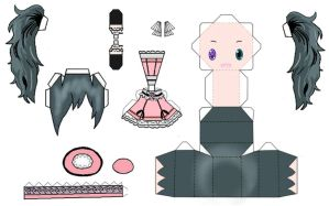 Ciel girl papercraft by Akishan-creation