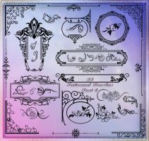 33 Patterned Brushes Part 4 by Lyotta