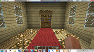 Minecraft My New Home ( Entrance ) by MikaMori