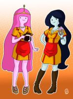 2 Adventure Time Girls by Misaky