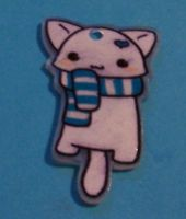 Kitty Charm of Shrinky Dink by ClownsKillPeople