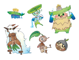 Pokemon Stickers Set 12 by Applewaffles