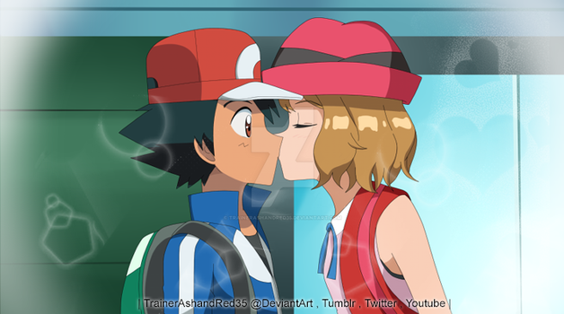 Amourshipping's Kiss by TrainerAshandRed35
