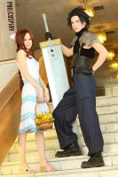 Crisis Core Final Fantasy VII. Aerith, Zack by AshreiMEW