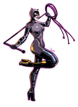 Catwoman Pin-up 2010 by RyanJampole
