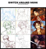 Switch around meme: SnK! by bananasaurr