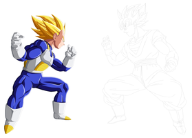 Goku vs Vegeta 2nd preview by drozdoo