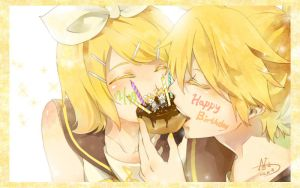 happy brithday Kagamine Twins by RoezNoah917