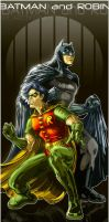 Batman and Robin in color by x-catman