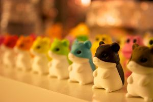 Rainbow Hamster Army by WriteLighting