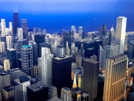 Over Chicago by thereedeffect