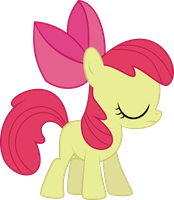 Applebloom is Disappoint Vector by StarshineCelestalis