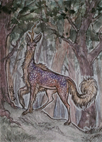 Guard these woods .ACEO by silverybeast