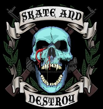 Skate and Destroy by taghuso