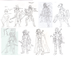Sephs Armor Progression by Streaked-Silver