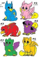 6 gryphons Adoptables(OPEN) 2016 by Lpscutemay100