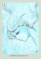 lightly blue - ACEO Nr. 105 by Apfelkeks