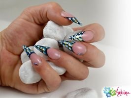 Snakeskin Stiletto Nails by Ambima