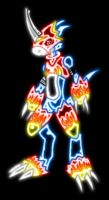 Flamedramon neon style by Soleviatis