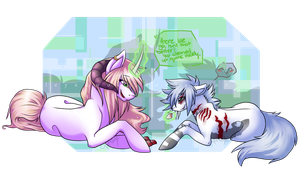 Isnt that better~ .:Juli Winters and Unknown:. by opaleyedwolf