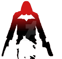 Red Hood negative space by ArkhamNatic