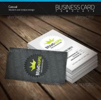 Casual Business Card by artnook