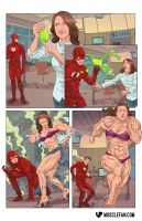 The Fastest (and Strongest) Woman Alive by muscle-fan-comics