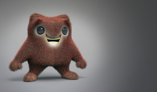 Zbrush Doodle Day 884 - Fuzzy Critter by UnexpectedToy