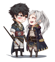 chibi commission :: Lon'qu and avatar by ReroReroCandy