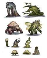 fungus, sludge and plant critters by SirHanselot