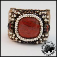 Red Agate Finger Cuff by GoodQuillHunting