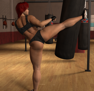 Alicia Kick by onek1995