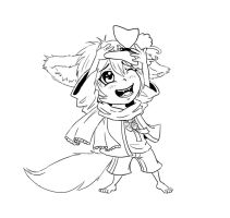 Chibi lineart commission: Shin by Sferath