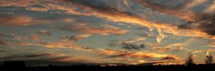 panoramic photo of burning sky by panna-poziomka