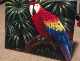 Scarlet Macaw painting by Techta