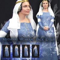 Medieval woman - Pack 3 by Georgina-Gibson