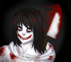 Jeff the killer (With speedpaint) by Makitty