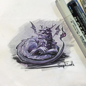 Dragon Sketch by Sephiroth-Art