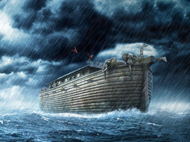 Noah's Ark in the Storm by myjavier007