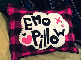 Emo Pillow by CarryOnLostFriends