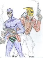The Rocketeer and Phantom by theaven