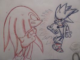 Knuckles is Red, Mecha is Blue---14-02 by BlumanX