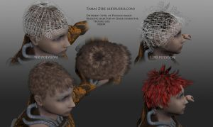 New Hair for my game character by Artruder