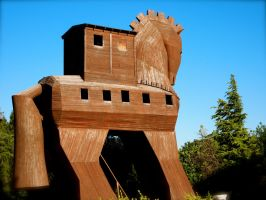 The Trojan Horse at Troy by jacobjellyroll