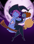 Halloween Commission: Happy Halloween, Witch Plum by grimphantom