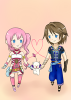 Request: Serah and Noel by MinaDeville